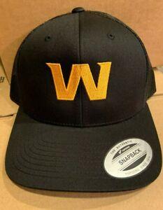 Washington Football Team New Logo W Yupoong Snapback Cap Redskins Hat Black