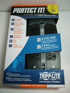 New Tripp Lite Protect It! 10-Outlet Surge Protection TLP1008TELTV