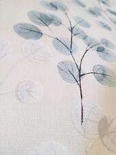 Tapete Vlies Blätter Rund Blau Grau Weiss Struktur modern Landhaus