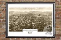 Vintage Billings, MT Map 1904 - Historic Montana Art - Old Victorian Industrial