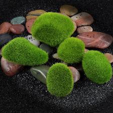 5x Green Aquarium Fish Tank Artificial Plastic Plant Grass Moss Ornament Decora