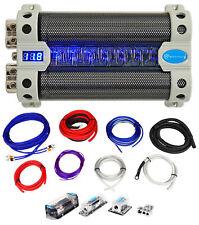 Rockville Rfc50F 50 Farad Capacitor w/ Voltage Display+Dual Amp Kit