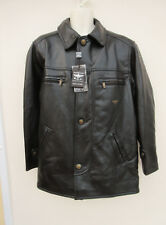 Reportage RGA - New with Fault - Mens Black Soft Leather Look Jacket - size M