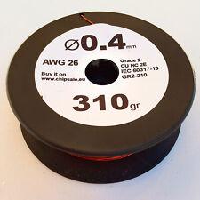 0.4 mm 26 AWG Gauge 310 gr ~260 m (0.7 lb) Magnet Wire Enameled Copper Coil