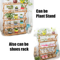 2/3/4/5 Tier Flower Pot Plant Stand Planter Rack Shelf Foldable Organizer