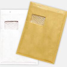 100x  aroFOL® Gr. 7/G A4 Luftpolstertaschen Versandtaschen + Fenster braun, weiß