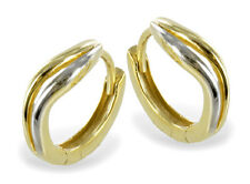 ECHT GOLD *** Creolen Ohrringe bicolor 13 mm