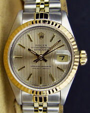 Rolex & Ouro 18kt Aço inoxidável Datejust Tapeçaria Stick 69173 Sant BLANC