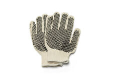 24 Pairs Double Dotted Hand Gloves Men's Size + Free Shipping