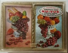 Vintage StanCraft Nu-Vue Playing Cards Bridge Set 2 Decks Fruit Pink and Blue