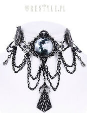 Restyle Moon Geometry Choker Gothic Victorian Crescent Jewelry Necklace