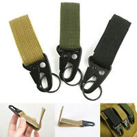 Outdoor Military Nylon Key Hook Webbing Molle Buckle Hanging Belt Carabiner Clip