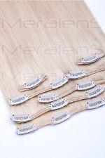 35, 45, 55, 60cm Clip In Set 7 Tressen Remy Echthaar Extensions Haarverlängerung