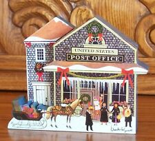 Charles Wysocki's Hometown Christmas SPECIAL DELIVERY #4 Plate Sculptural Piece
