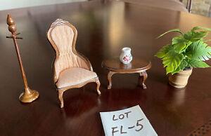 dollhouse miniatures 1:12 furniture lot, Vintage, New