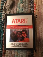 ET E.T. The Extra-Terrestrial ATARI 2600 Video Game System Read Description