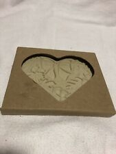 Pampered Chef 2003 Fall Autumn Wreath Heart Stoneware Cookie Mold #2927 NIB