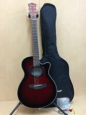 "38"" Caraya C-836TRDS Round-back Acoustic Guitar TigerRed+Gig bag,Extra Strings"