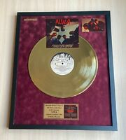 NWA Straight Outta Compton 1987 Vinyl Gold Metallized Record Mounted In Frame