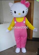 Hello Kitty Mascot Costume Cartoon Fancy Cosplay Party clothing Adult size #215