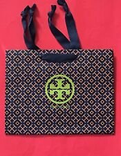 """NEW!! Authentic Tory Burch Logo Empty Shopping Paper Gift Bag 9"""" x 7"""" x 3.5"""""""