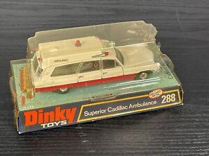 Dinky Toys No. 288 Cadillac Superior Ambulance in Original Box New Open Plastic