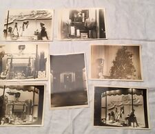 Vtg 1940's Sepia Photos Lot 7 Shop Window Men's Wear Store Christmas Stetson 5x7