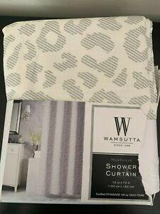 Wamsutta Montville 72-Inch x 72-Inch Shower Curtain in Grey/Violet