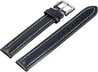 Echtleder Ersatzarmband Uhrenband Blau 16 mm Ersatzband X-818130200116