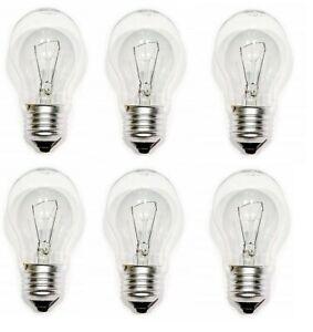 40w Watt Standard Bulbs ES E27 Screw Fit Clear Classic GLS Light Lamps x 6