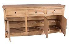 Premium Corona Large Sideboard / Buffets Mexican Pine 3 Drawer 3 Door Sideboard
