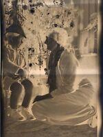 Lot Of 8 Vintage Christmas Black And White Negatives ..estate Find !