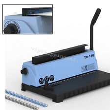 Carbide Blades All Steel Metal Spiral Coil 34Holes Punching Binding Machine Easy