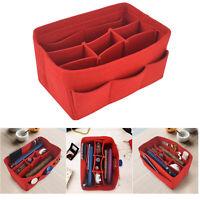 Multi Pocket Insert Organizer Handbag Felt Bag Cosmetics Travel Portable Purse