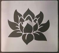 "2 x Lotus flower Wall art decal stencils   choose height 3"" - 8"""