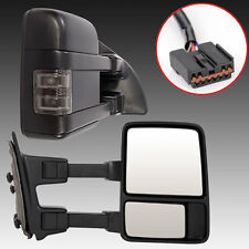 For 99-07 Ford F250 SuperDuty Towing Mirror Power Heated SMOKE Turn Signal Light