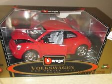 Burago Volkswagen Gold Collection 1998 Beetle Red Mint in Box