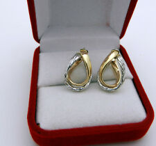 Casual Real 14k Two Tone Gold Earrings Made in ITALY MILROSE