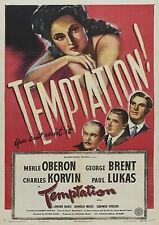 Temptation (Film Noir '46) Merle Oberon, George Brent, Charles Korvin.