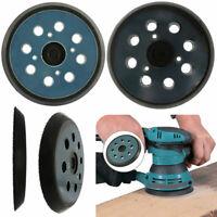 5inch 125mm 8Hole Sanding Backing Disc Pad Round Sander Base Hook and Loop Black