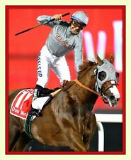 California Chrome Dubai World Cup 11x14 Matted 8x10 photo print Victor Espinoza