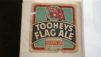 OLD AUSTRALIAN BEER LABEL, TOOHEYS SYDNEY FLAG ALE 1960s FAULTS