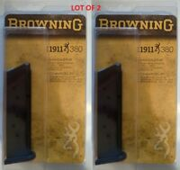 Lot of 2 - Browning 1911 380 8 Round Magazine 380acp 8rd Mag 112055192 OEM NEW