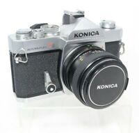 Konica T3 Autoreflex Vintage 35mm Film Camera SLR w/ 28mm f3.5 Lens Works Mint