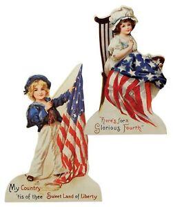 Bethany Lowe Set of 2 Americana Die Cut Dummy Boards RL6571