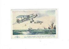 RAF Royal Air Force Fairey Albacore biplane torpedo spotter Salmon pub. postcard