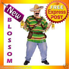 C280P Mens Mexican Tequila Party Outfit Halloween Plus Fancy Dress Costume