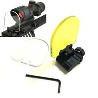 Airsoft Sight Scope Lens Protector Cover Shield Panel 20mm Rail Mount For Rifle