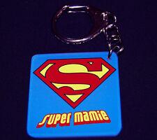 Porte-clés SUPER MAMIE (modele 1) cadeau fête des grands-mères