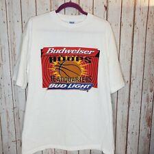 Vintage Coors Light Uconn Promo White T Shirt Size Mens XL Beer Single Stitch